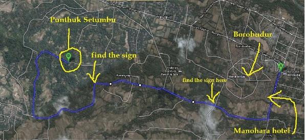 Peta Lokasi Punthuk Setumbu